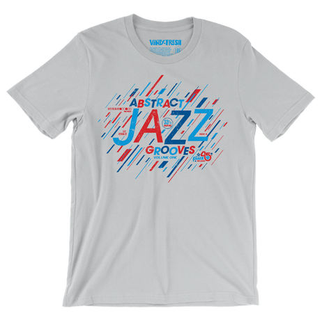 Abstract Jazz Grooves Vol. 1 - Men's Silver Grey Short Sleeve T-shirt
