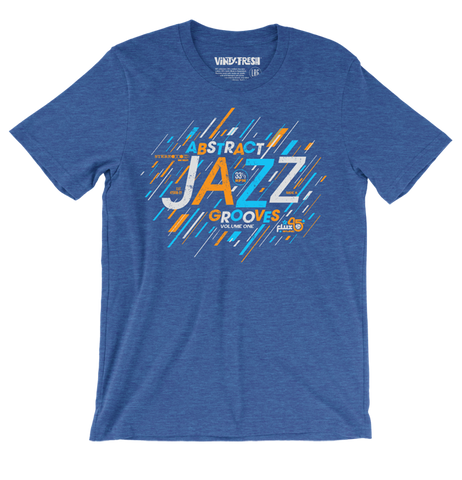 Abstract Jazz Grooves Vol. 1 - Men's Unisex Heather Royal Blue Short Sleeve T-shirt