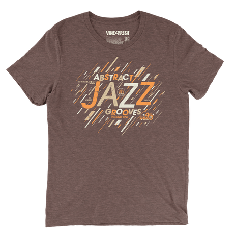 Abstract Jazz Grooves Vol. 1 - Men's Unisex Triblend Brown Short Sleeve T-shirt