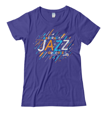 Abstract Jazz Grooves Vol. 1 - Women's Cobalt SS Mid-Scoop T-shirt