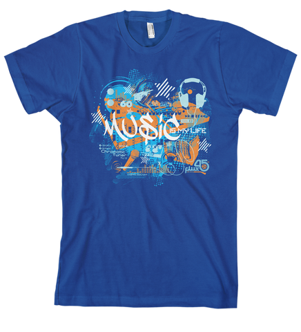 Music Is My Life - Men's Lapis Blue Short Sleeve T-shirt