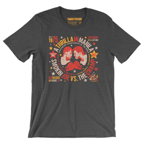 The Fight Of A Lifetime - Men's Unisex Heather Dark Grey Short Sleeve T-shirt