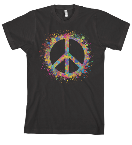 Spread The Peace - Men's Black Short Sleeve T-shirt