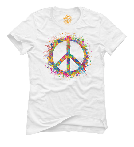 Spread The Peace - Women's White Short Sleeve T-shirt