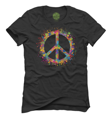 Spread The Peace - Women's Black Short Sleeve T-shirt