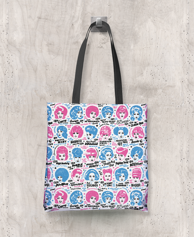 Glamorama - All-Over Printed Poly Tote Bag (White)