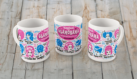 Glamorama - Coffee Mug 11/15 oz. White Glossy Ceramic