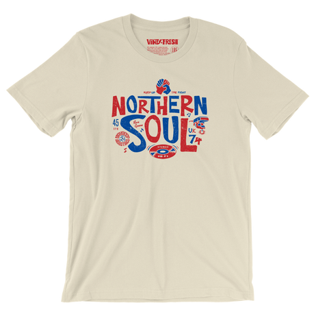 Northern Soul 74 - Men's Unisex Soft Cream Short Sleeve T-shirt
