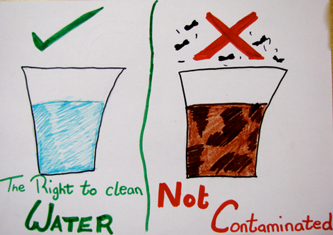 clean water vs contaminated water
