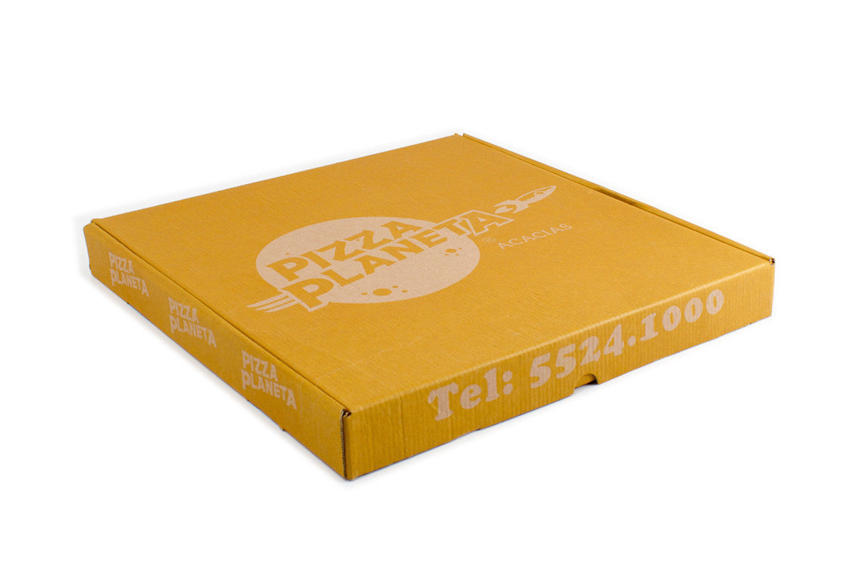 Caja para pizza cafe personalizada for Utensilios pizza