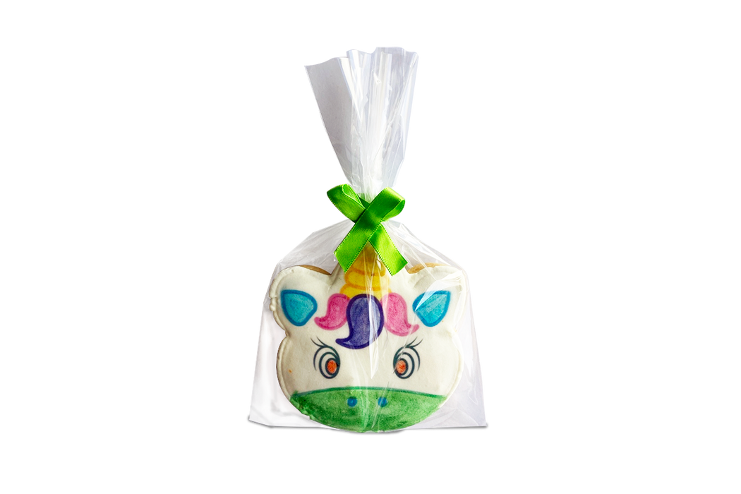 Bolsa de celofan para galleta decorada