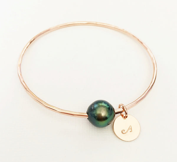 Bangle Chari - tahitian pearl (B142)