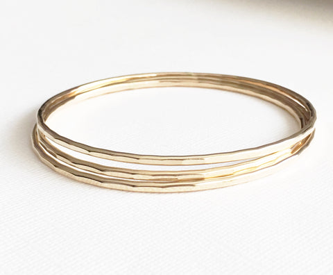 Carly bangles set - gold filled (B184)