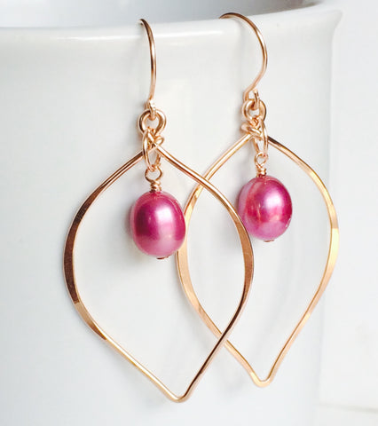 Earrings Doree - pink pearl ( E