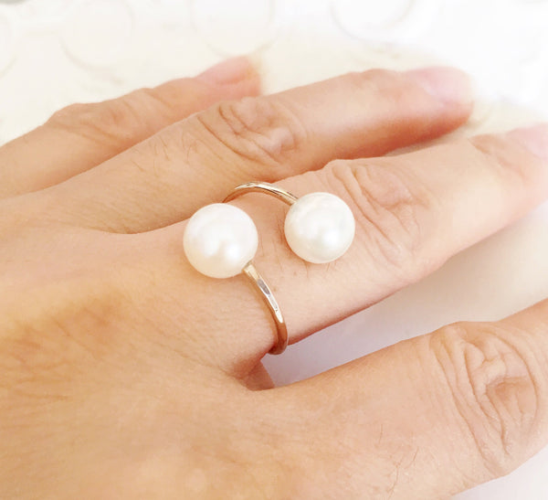 Ring Leia - white pearls (R152)