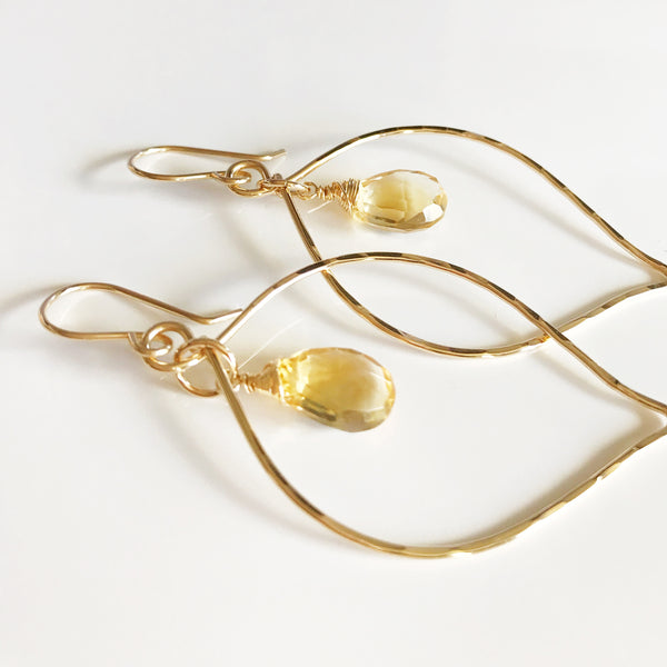 Earrings DOREE- Citrine (E446)