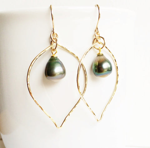 Earrings Doree - tahitian pearls (E310)
