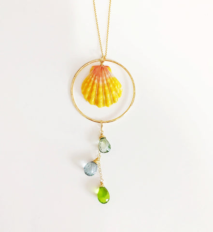 Necklace Niko - long sunrise necklace (N227)