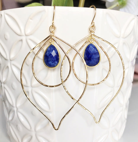 Earrings Chloe- Lapis Lazuli (E269)