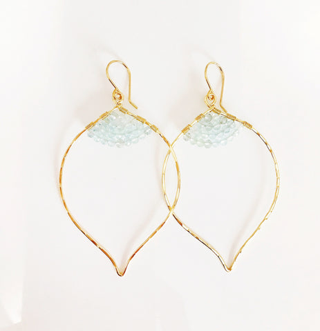 Earrings Malie - aquamarine  (E194)