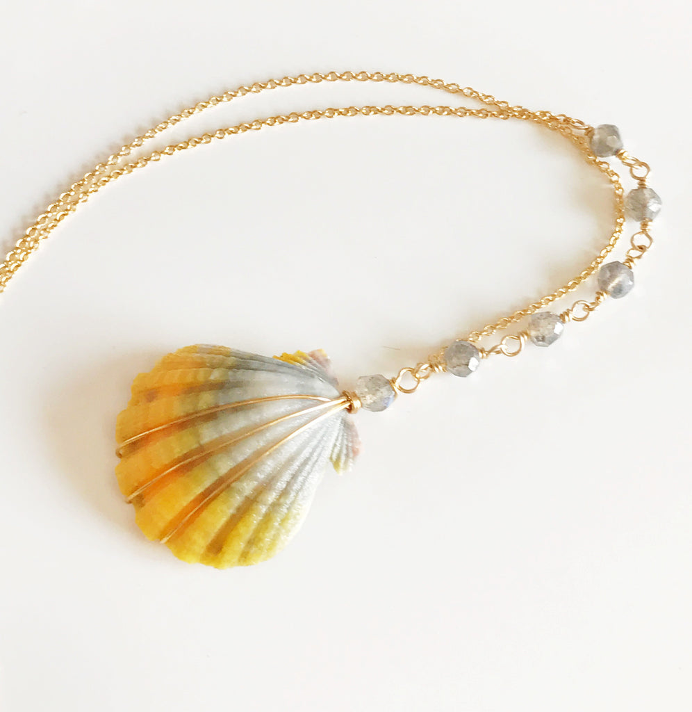 Necklace Hani - labradorite (N239)