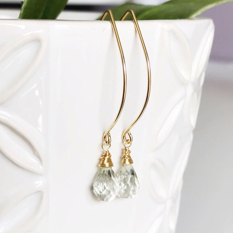 Earrings Gemma - Green amethyst  (E400)