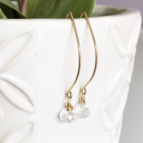 Earrings Gemma - crystal quartz ( E406)