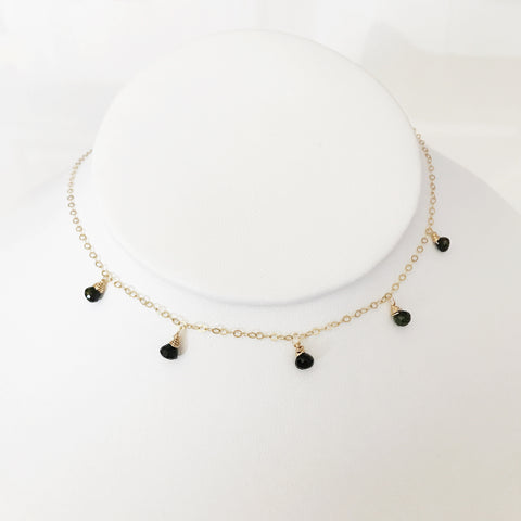 Necklace IVANNA - black tourmaline (N252)