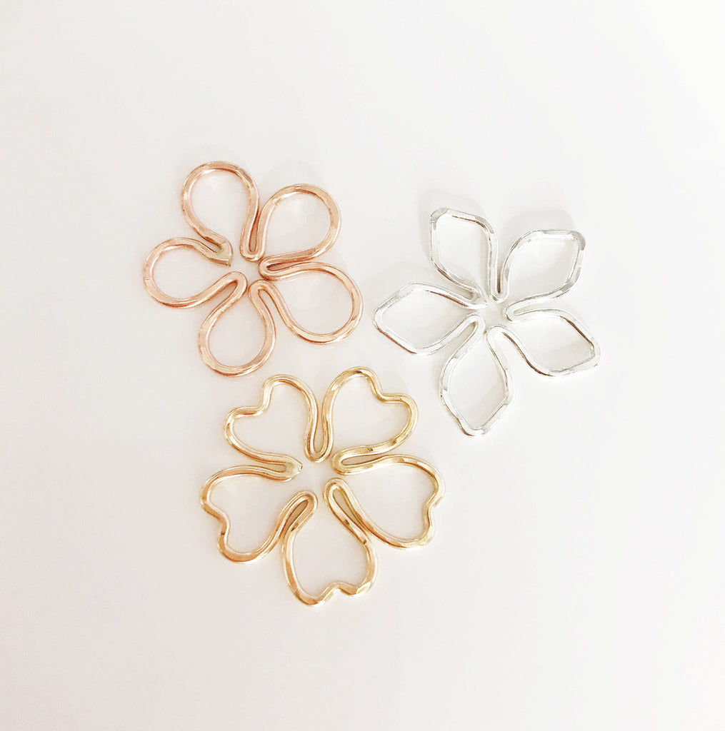 Hawaiian flower charms