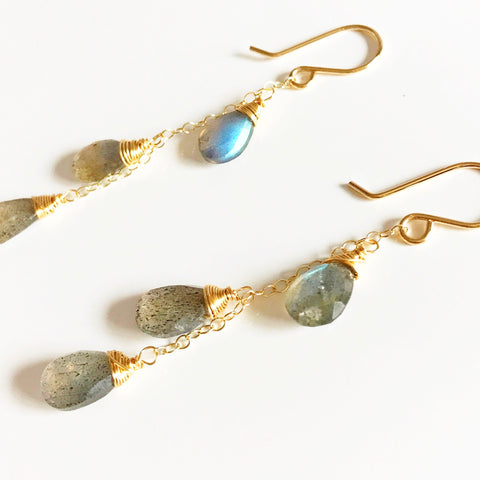 Earrings Adele - labradorite (E267)