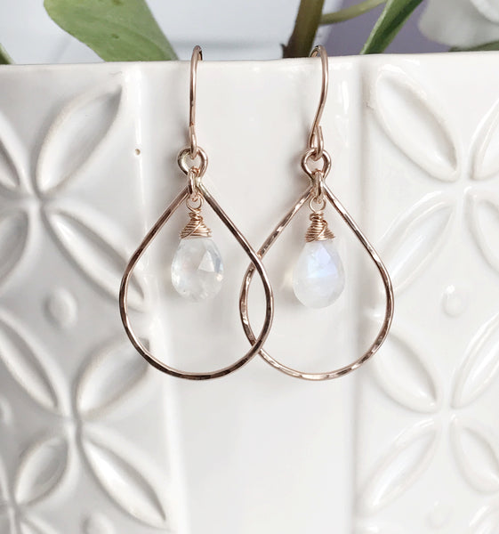 Earrings IRINA - moonstone (E417)