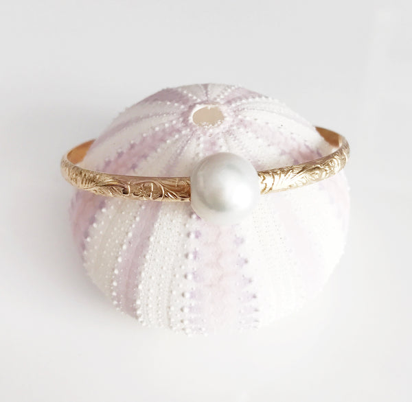 Bangle ALII - white pearl (B338)