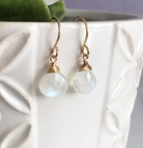 Earrings Kala - Moonstone (E262)