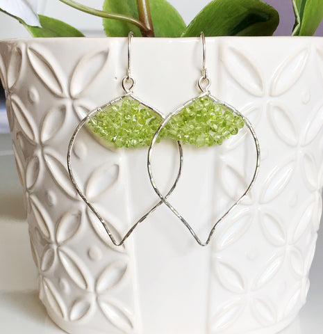 Earrings WREN - Peridot (E432)