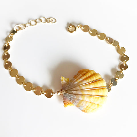 Sunrise shell bracelet (B339)