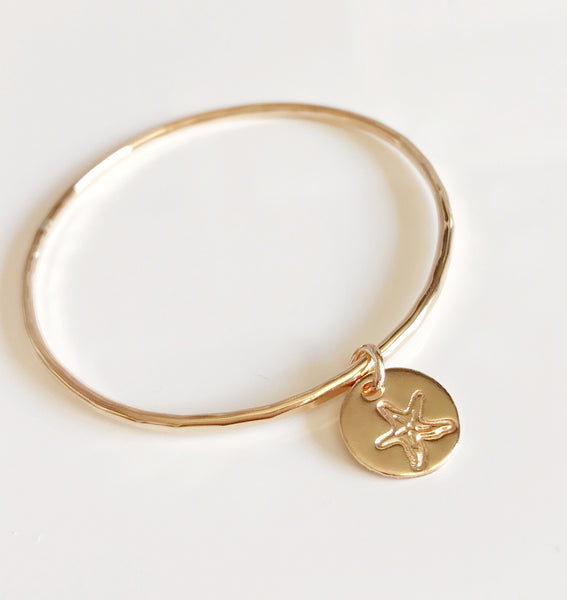 Bangle KINI -starfish charm (B342)