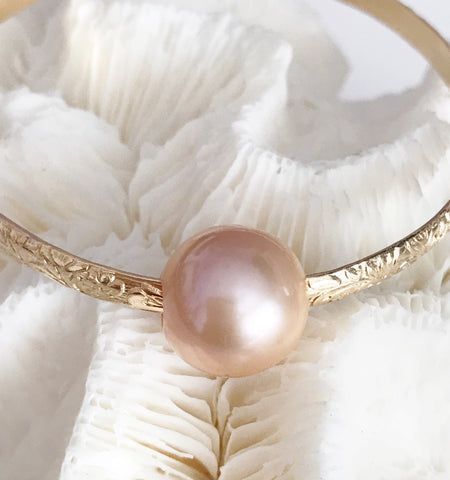 Bangle ALII - pink Edison pearl ( B315)