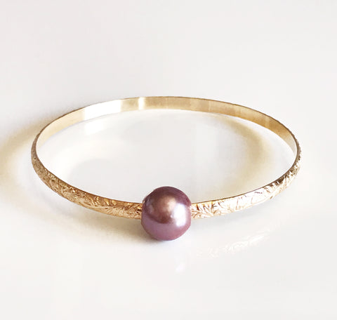 Bangle ALII - lavender Edison pearl (B343)