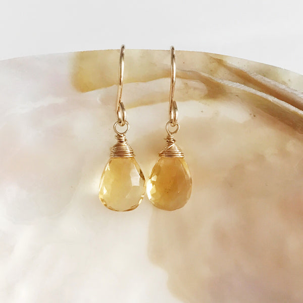 Earrings NALANI - citrine (E443)