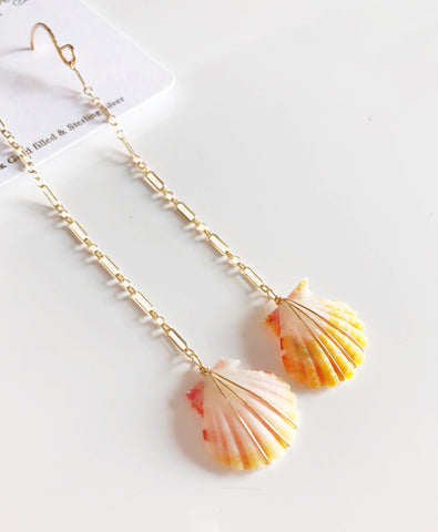Earrings ELLA - sunrise shell (E441)