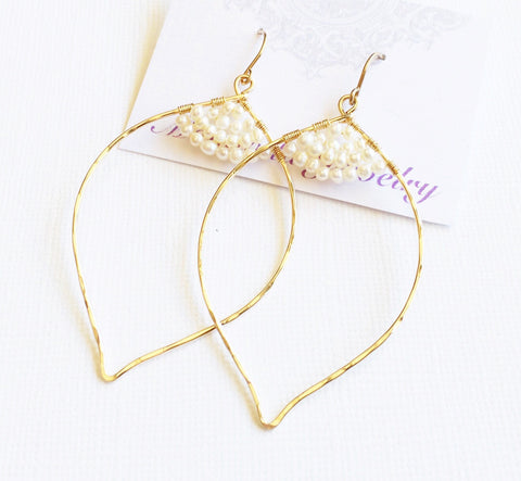 Earrings Malie - Pearl (E168)