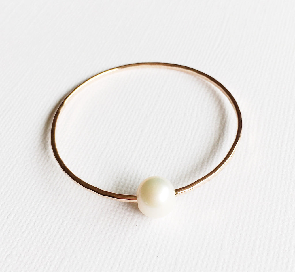 Bangle Lani - white  pearl ( B254)