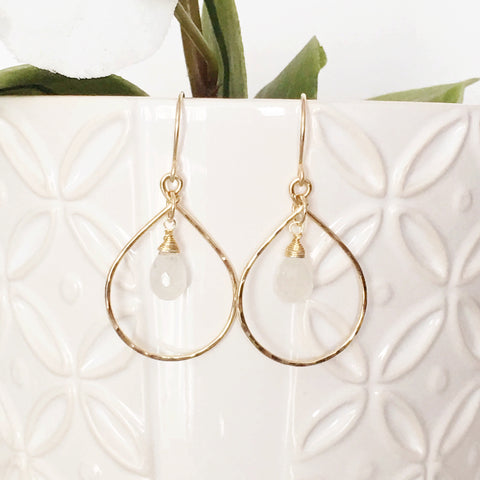 Earrings Hana - Moonstone (E304)