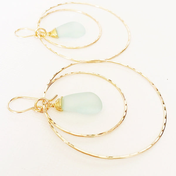 Earrings Rachel - beach glass (E313)