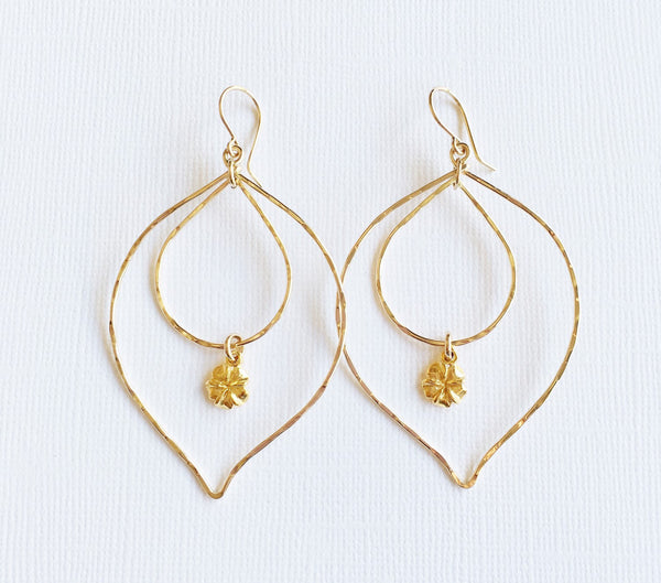Earrings Ren - Plumeria (E268)