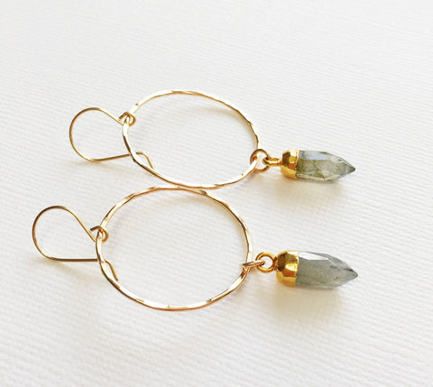 Earrings Zoe - labradorite (E271)