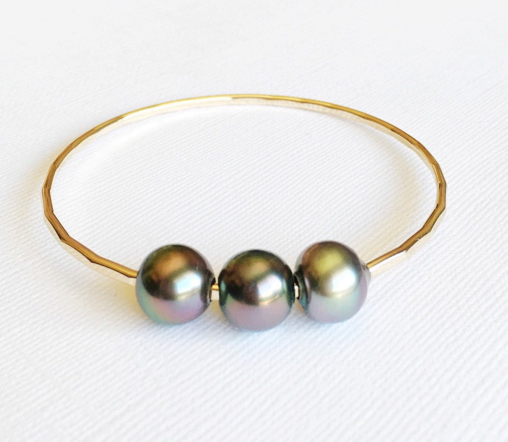 Bangle Paige - tahitian pearls  (B237)