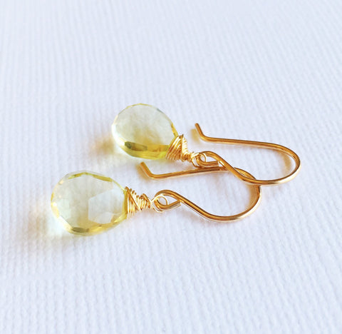 Earrings Nalani - Lemon topaz  (E124)