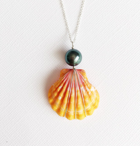 Necklace Iola - tahitian pearl (N160)