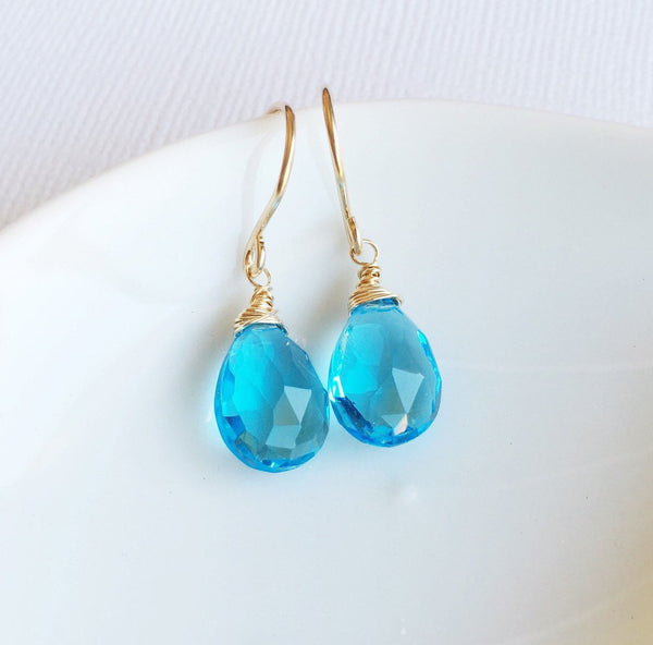 Earrings Nalani - Blue quartz (E282)